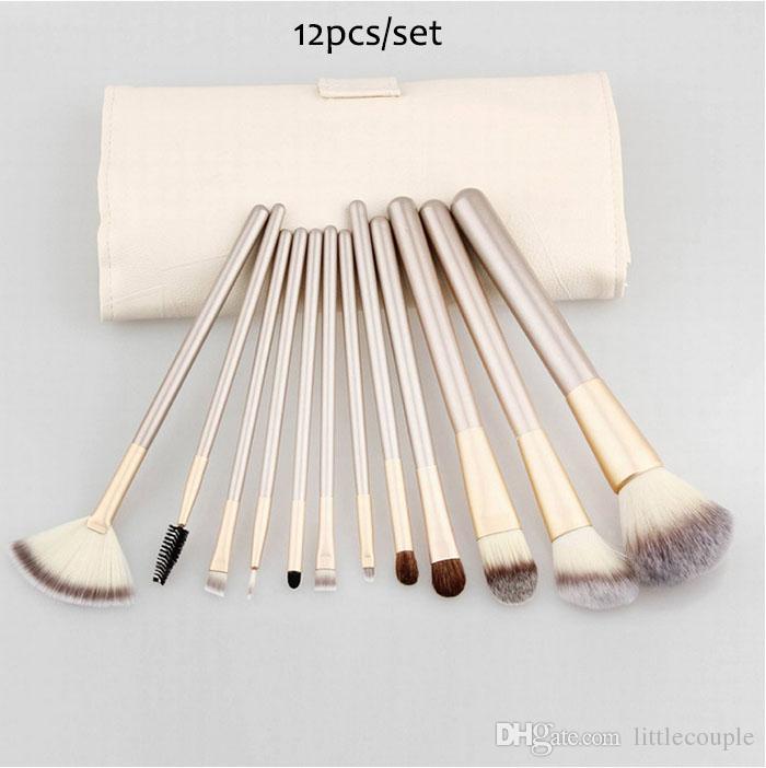12/18/Makeup Brush Set Kit Professional Makeup Brushes face Foundation Powder Blush Eyes Brushes Cosmetics Brush with Up bag