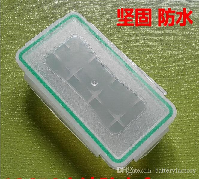 18650 Boîte De Batterie Étanche Boîtier En Plastique De Protection De Stockage Translucide Batterie Titulaire Boîte De Rangement pour 18650 et 16340 Batterie DHL Gratuit