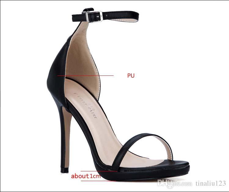 2016 new fashion sandalias plataforma black high heels sandals femininas salto alto sexy lady platform pumps women's shoes big size 35-43