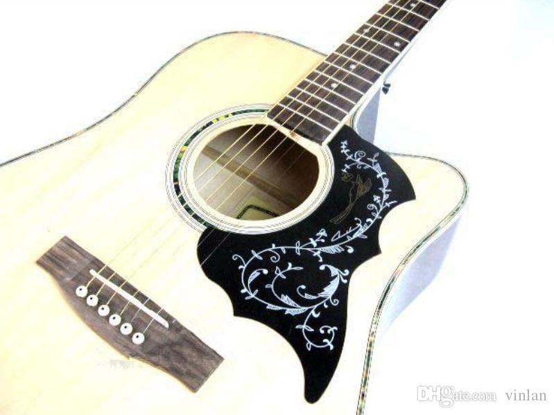 Katı Dayanıklı Hummingbird Stil 41 'Akustik Gitar Kalkanı Pickguard Koruyucu Gitar Parçaları Müzik aleti aksesuarları Toptan