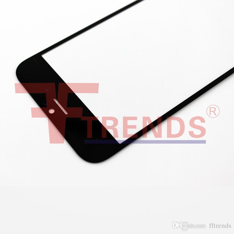 IPhone 6 için 4.7 inç Ön Cam Lens Ourter Dokunmatik Ekran Kapak Siyah Beyaz Yedek Onarım Parçaları Ücretsiz DHL Kargo