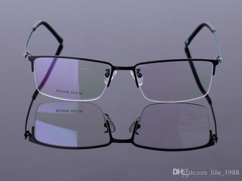 290f120e48 2016 New Men Eyeglass Frames Half Rimless Steel Sheet Fashion Design Spectacle  Frame CJ 2008 3 Orange Coffee Grey Color Glasses Frames Eyeglass Frame ...