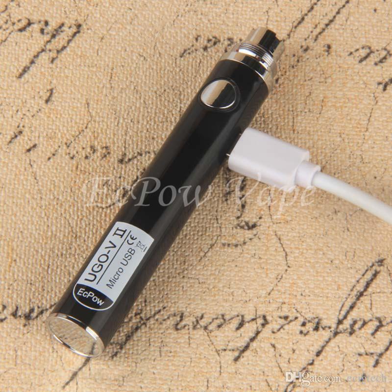 510 UGO V Vape Bateria EVOD UGO-VII eGO Vaporizador Caneta Micro USB Carregador Ecig 650 mah 900 mah Baterias Vapes Ecigs China Direto Atacado
