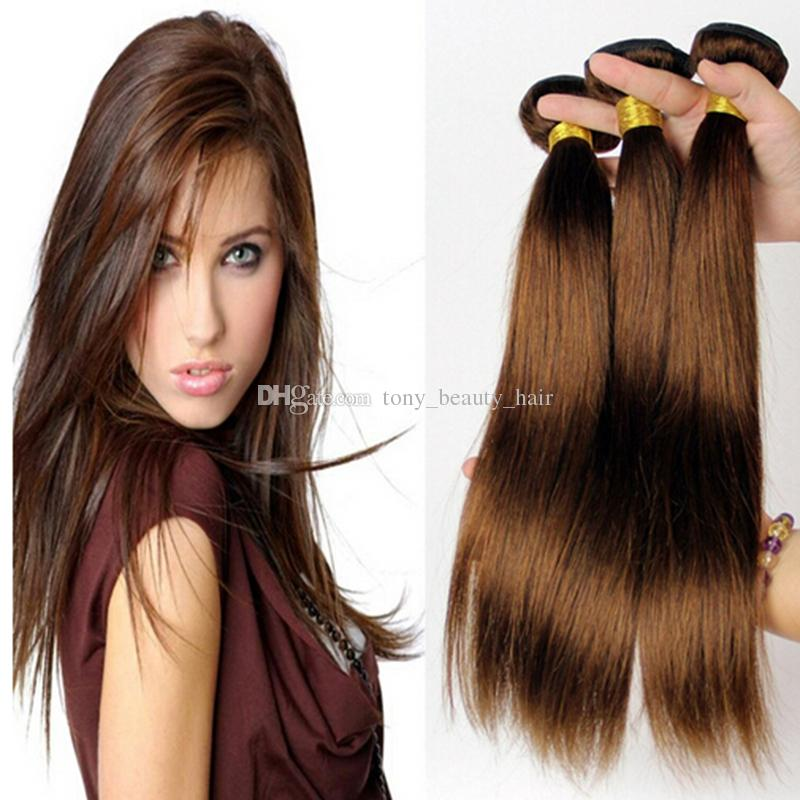 Cheap grade 8a malaysian chocolate brown straight hair light brown cheap grade 8a malaysian chocolate brown straight hair light brown human hair extensions color 4 medium brown silky straight hair bundle hair wefts cheap pmusecretfo Image collections