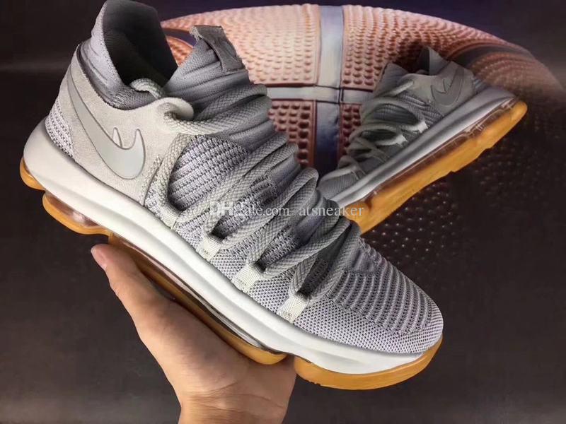 info for 28de5 96341 ... mens kd 10 light bone basketball shoes for sale pale grey light bone gum  shaq shoes