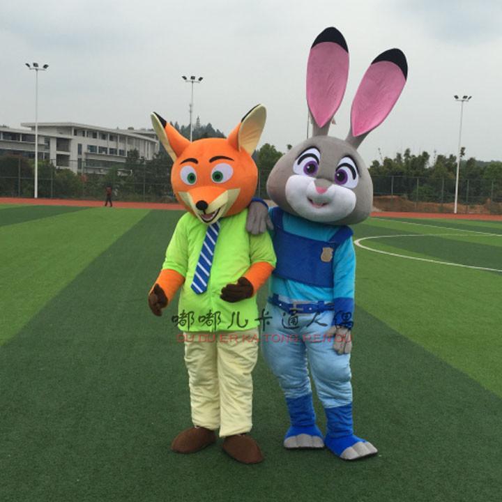Hot Zootopia Mascot Costumes Judy Hopps And Nick Wilde Costume ...