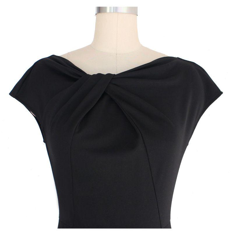 New Arrivals Fashion Elegant Womens' Vintage Slim Fit Pencil Skirt Knee-Length Bodycon Casual Vintage Dresses