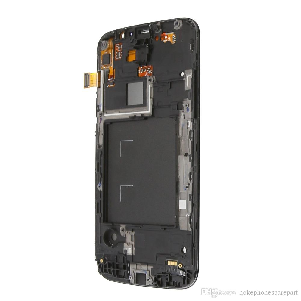 Color blanco para Samsung Galaxy Mega 5.8 i9152 Pantalla táctil LCD con reemplazo de ensamblaje de digitalizador de marcos, envío gratis