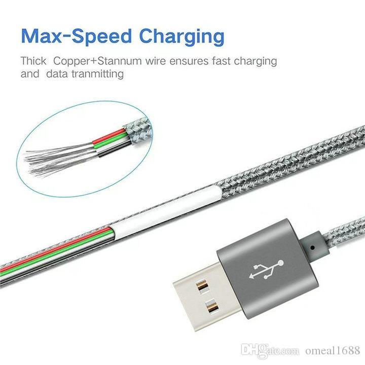عالية السرعة 3ft 6ft 10ft المعادن الإسكان مضفر مايكرو كابل usb كابل دائم شحن USB نوع C كابل ل S21 S8 S9 S10 ملاحظة 20 ملاحظة 9 كابل شحن الهاتف الذكي