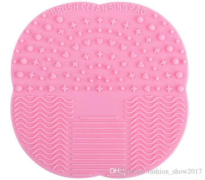 Trucco silicone Hot Spazzola cosmetica di pulizia del pulitore Scrubber cartoncino strumenti di lavaggio Pad strumento Mano