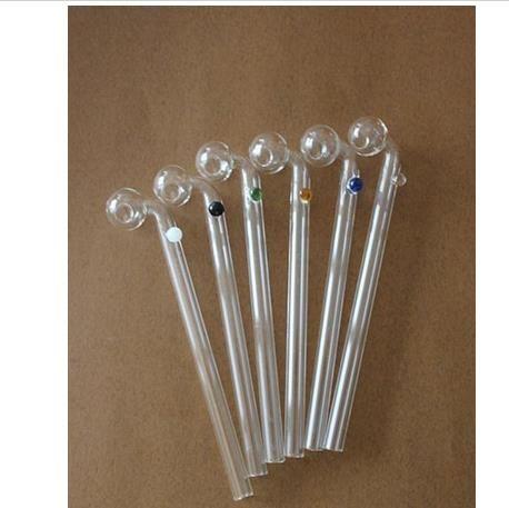 15cm incurvés tuyaux en verre brûleurs à mazout en verre tuyaux bangs en verre avec conduite d'eau en verre de six couleurs