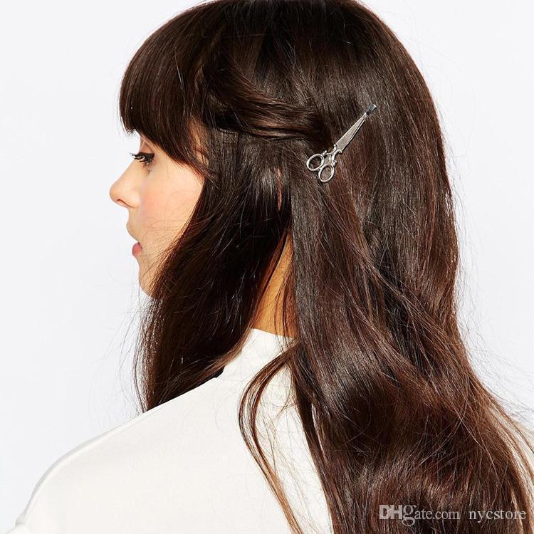 Diseñador de la marca de joyería horquillas oro plata tijeras pinza de pelo para el pelo Tiara Barrettes mujeres accesorios para el cabello