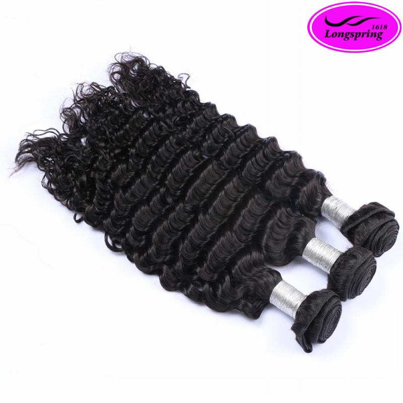 Clearance Sale!!! 8A Unprocessed Brazilian Hair Weft Deep Wave Cheap Human Hair Extensions 100% Human Hair Weave Can be Dyed