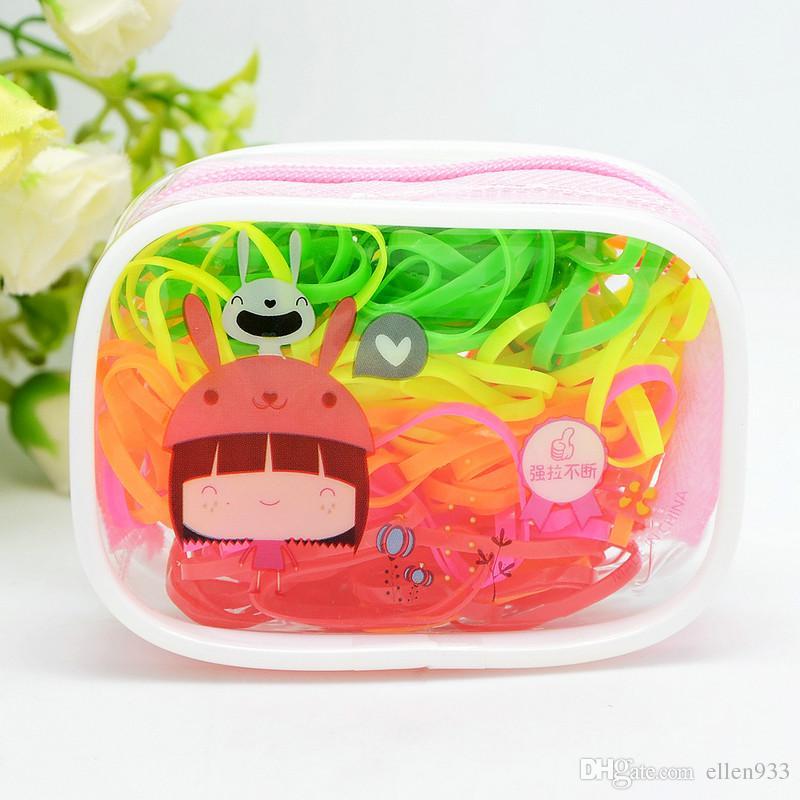 1 bag/order Colors Rubber Bands High Elastic Hair Bands Children Hair Rope Hair Accessories Complete Cute Cartoon