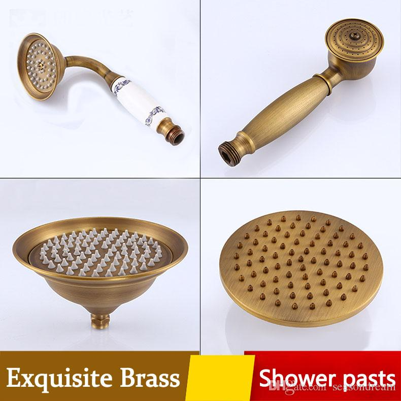 2018 Archaistic Bathroom Shower Parts Hand Rain Head Waterfall ...