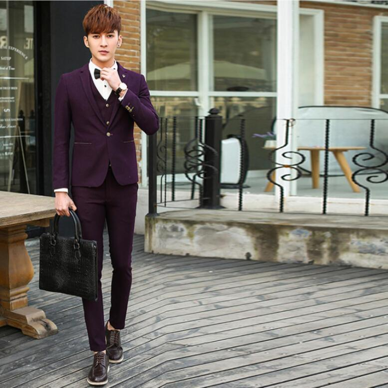 Best Quality The Most Handsome Men Business Suits Three Piece ...