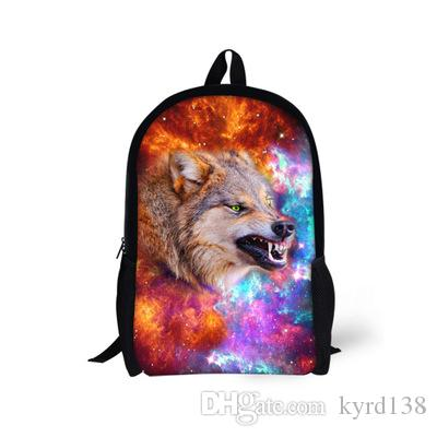 99f83f3f3cc9 Designer Teen Boys School Bag Cool Children Printing Wolf Horse Schoolbags  Cool Primary Middle School Child Kids Book Bag Mochil Toddler Backpack  Backpacks ...