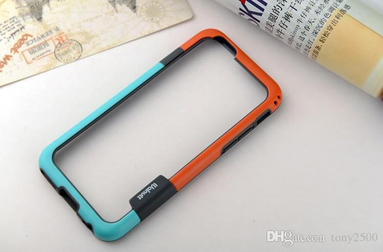 """Frame Case for iphone 6 Dual Color soft Gel Silicon Frame Bumper border Protective Case cover For New 4.7""""iPhone6 i6 iPhone 6 6G"""