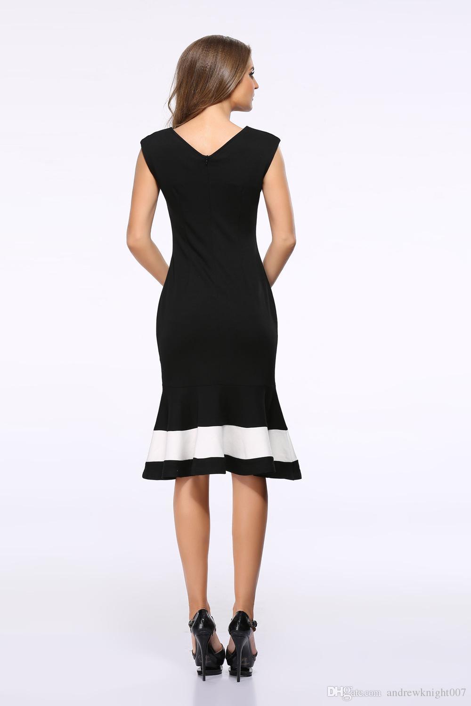 2021 New Women Elegant Formal Dress V Back Square Neck ...
