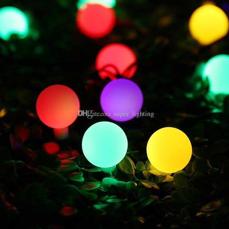 9m 20Leds Solar LED String Light Coloré Ball Lumière Étanche Étanche Christams Fairy Lights pour la fête Désherque Décoration Everin Outdoor