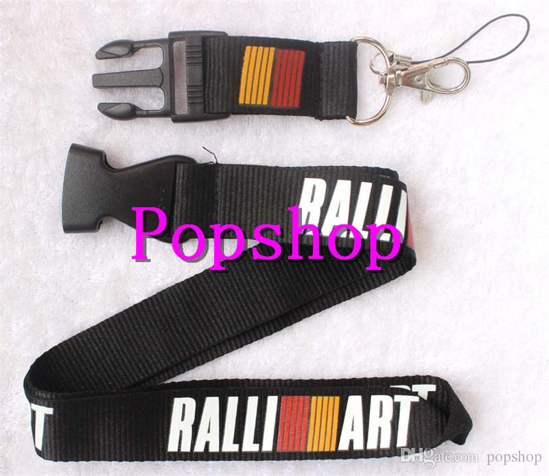 New RALLIART Popular Auto Logo Style mobile Phone Neck lanyard with Lobster Clasp Mobile phone Straps Keychain