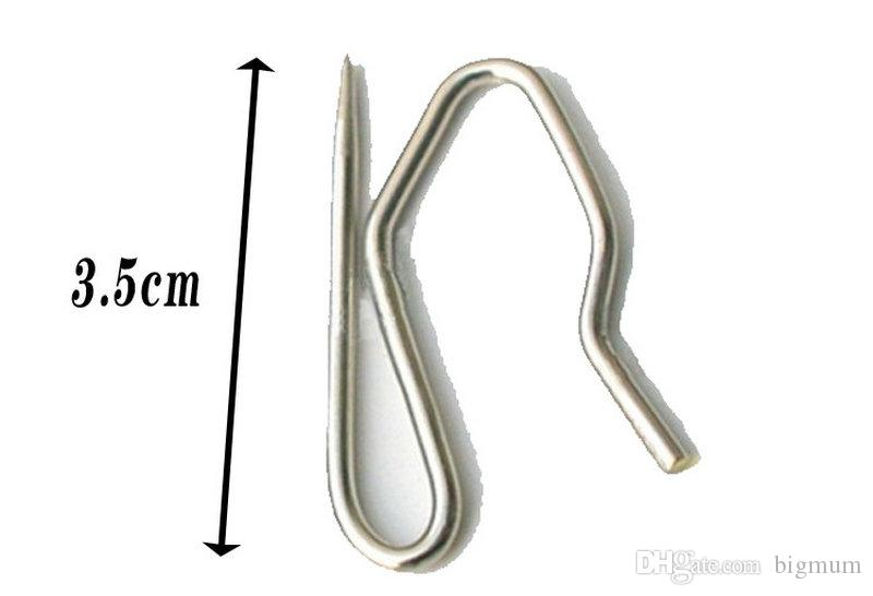 Quality Curtain Hooks/Plastic Rings/Loops Stainless Steel Curtain Holder 4 Claw Iron Claw Hooks Curtain Accessories For Cortina