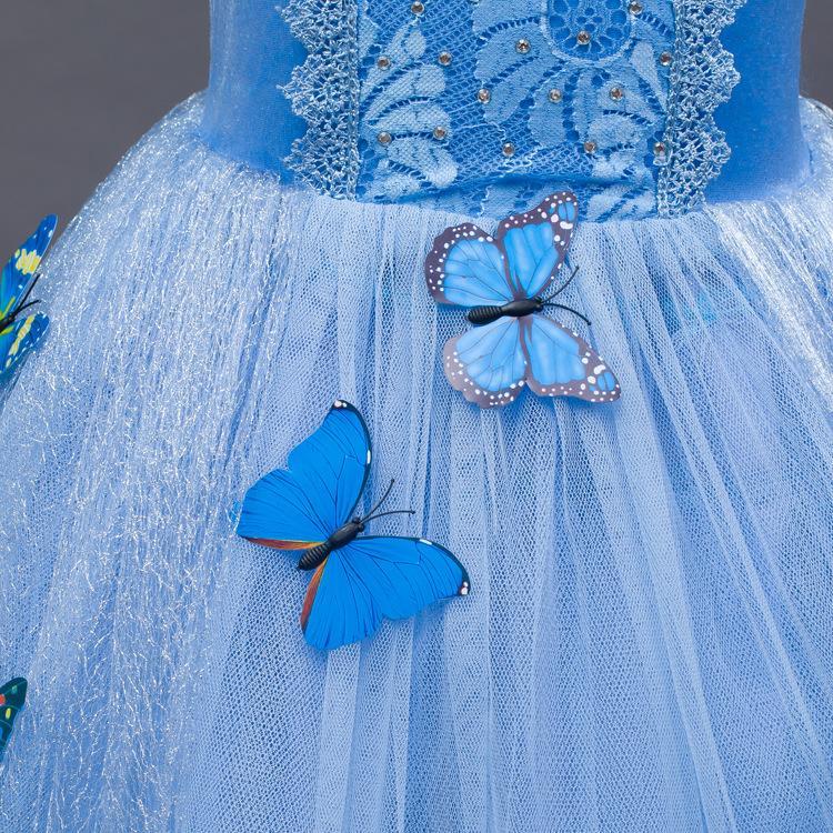 2016 neue baby mädchen Cinderella kleid kinder weihnachten halloween dress up kleidung kinder cosplay tutu röcke mit schmetterling C-7