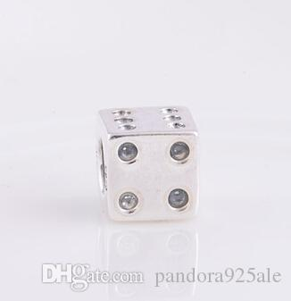 a15a354c4 DICE CHARM DIY Beads Real Solid 925 Sterling Silver Not Plated Fits  Original Pandora Bracelets & Bangles & Necklaces