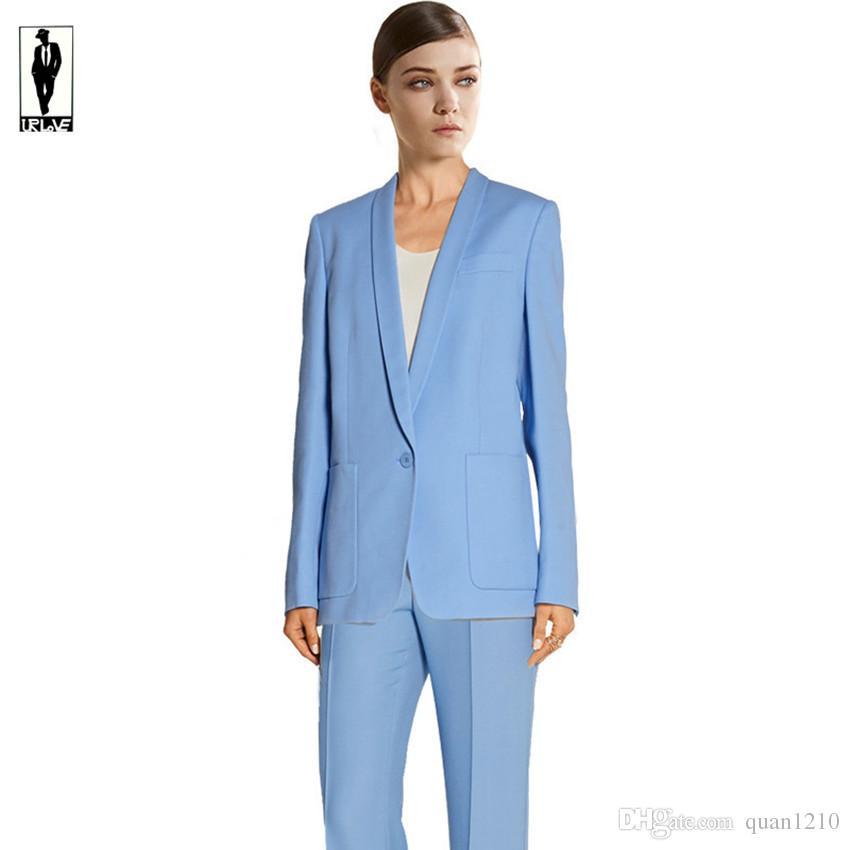 2017 Ur 42 Sky Blue Custom Handmade Bussiness Formal Elegant Women ...