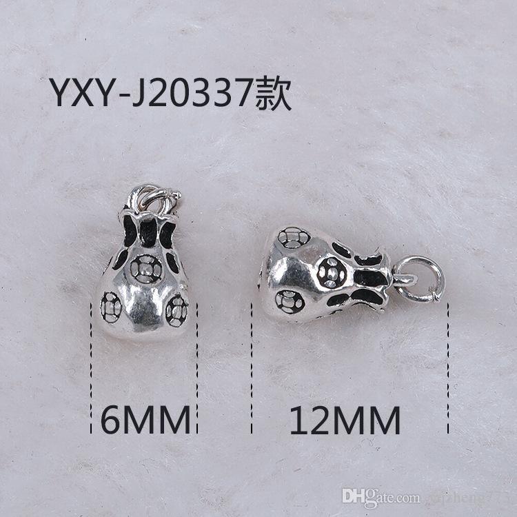 Modeschmuck DIY Schmuck 925 Sterling Silber Schmuck Charms Schmuckzubehör 925 Sterling Silber Stecker Halskette Draht J20337-341