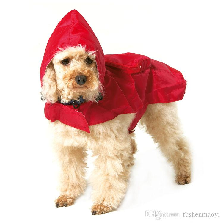 Pet Fashion Series Dog supplies Dog raincoats hooded Breathable mesh lining cloth waterproof soft fabric 7 sizes wholesale
