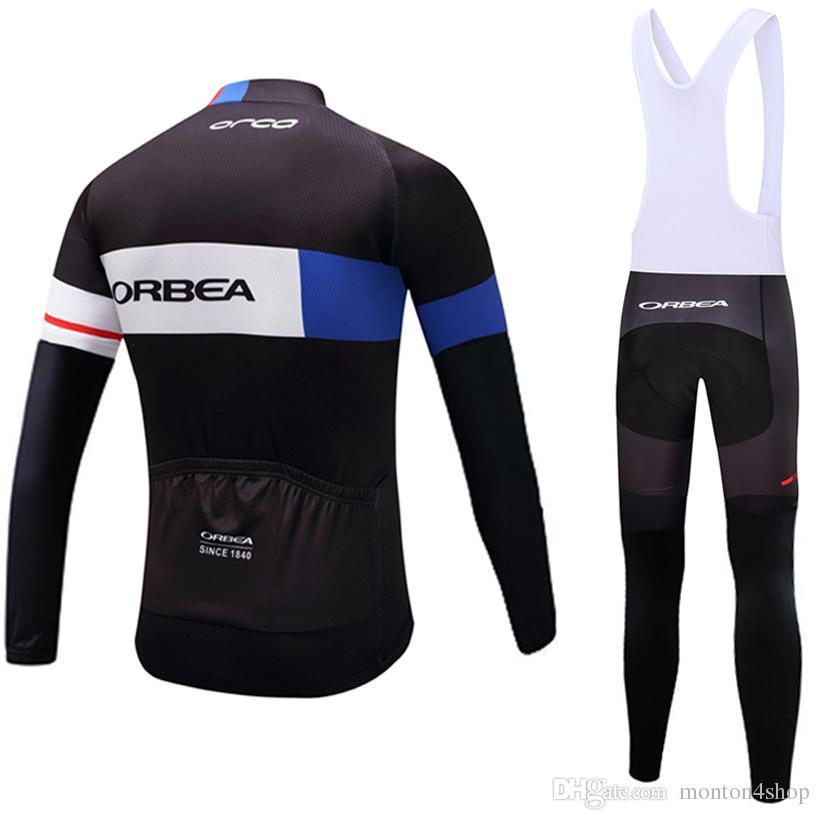 2018 Nuovo inverno Orbea ciclismo pantaloni in maglia set Ropa Ciclismo MTB in pile termico antivento pro abbigliamento da ciclista abbigliamento da ciclismo