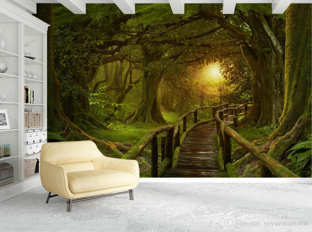 Custom wallpaper for walls 3 d photo forest Wall wallpapers for living room bedroom 3d wallpaper wall mural