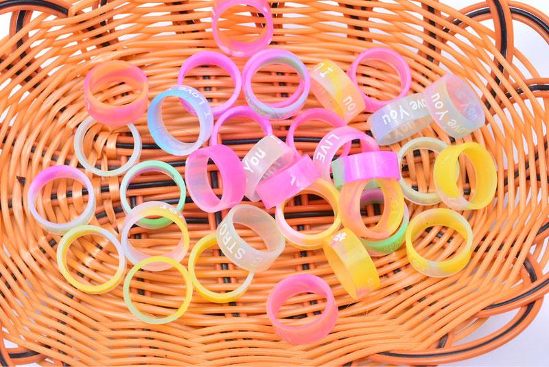 Vape Band Silicone Rings with Popular Luminous Colorful Rubber Rings Fashion Jewelry fit RDA RTA Atomizer Mods