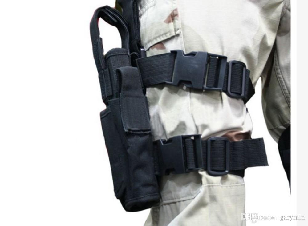 Tactical Drop Leg Pistol Bolsa de bolsa de coldre