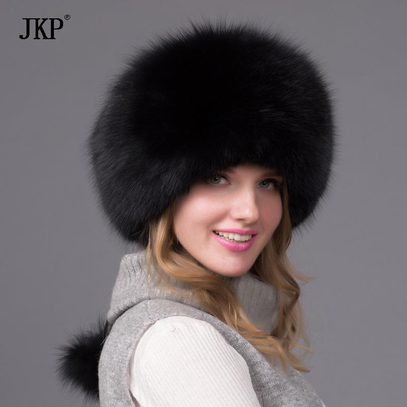 Wholesale- Winter Unisex Fox Fur Hat Sheepskin Hat Fox raccoon Fur ... 2e7355f7b646