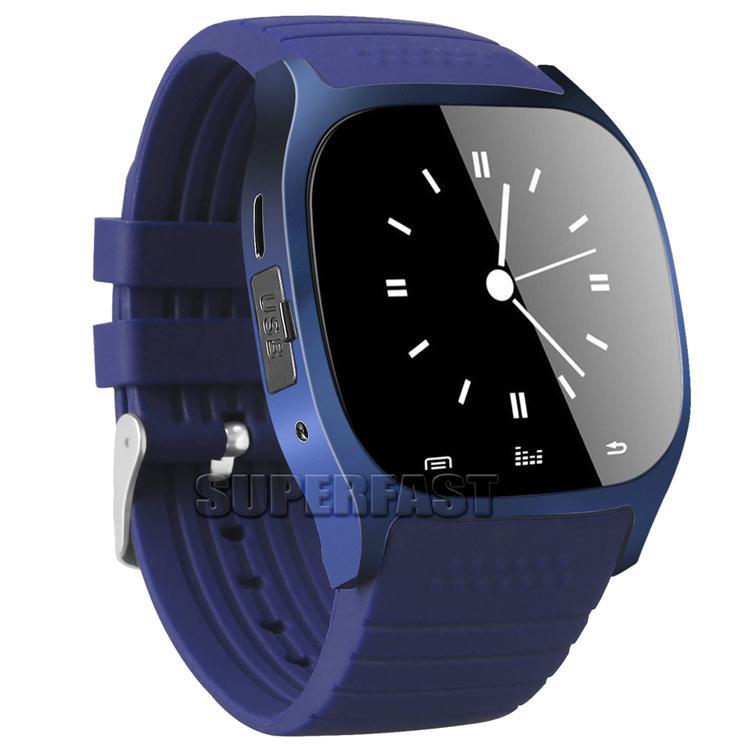 M26 Smartwatches Bluetooth Smart Watch für Android-Handy mit LED-Anzeige Musik-Player Schrittzähler für iPhone im Kleinpaket