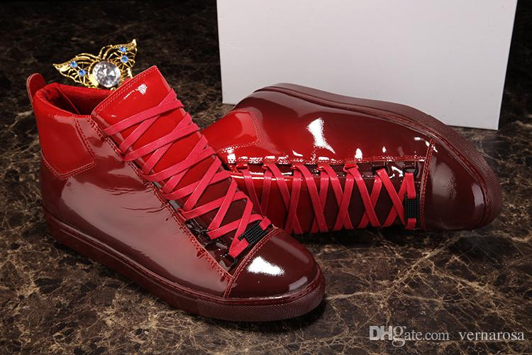 1acbff062e5449 Popular Men Casual Arena Sneakers Gradient Patent Leather Man ...