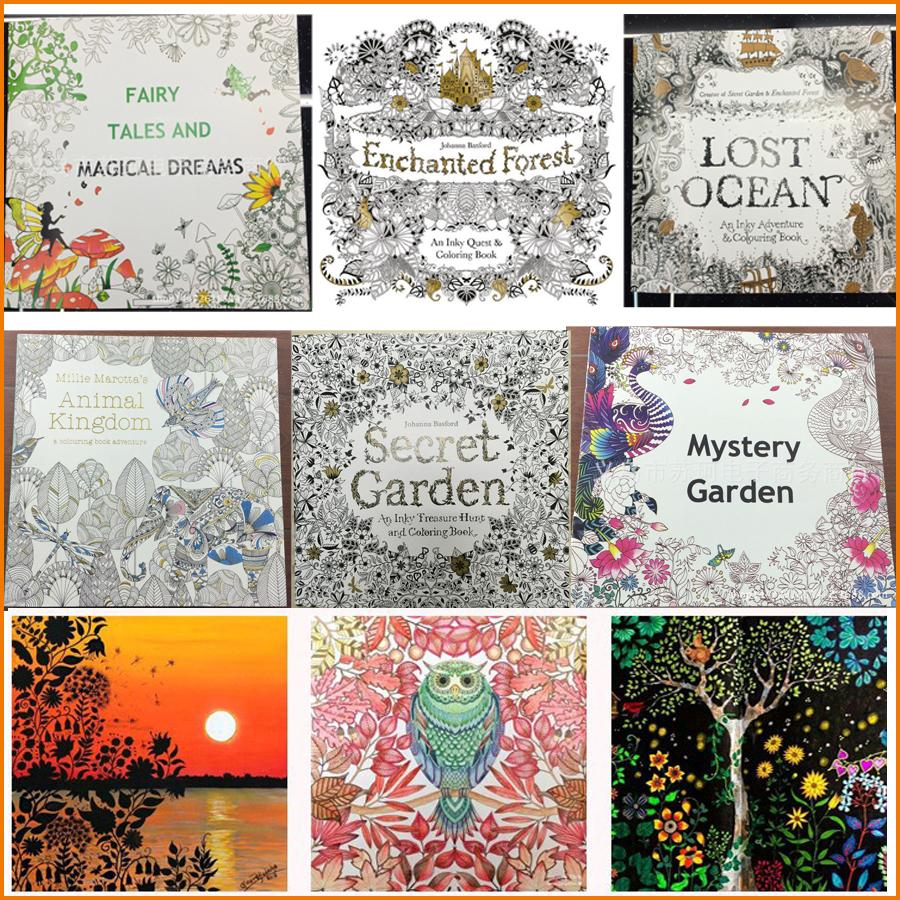 Secret Garden Coloring Books Relieve Stress For Kids Adult Fantasy Dream Painting Drawing Kill Time Book 25cm X Color Pages