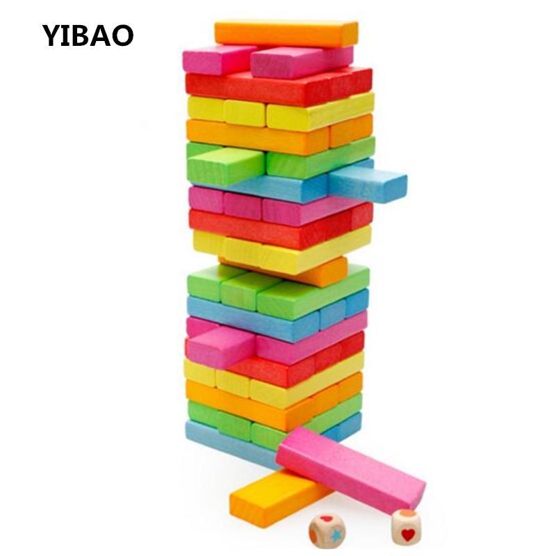 Compre 2017 Nueva Jenga Torre De Madera Bloques De Construccion De