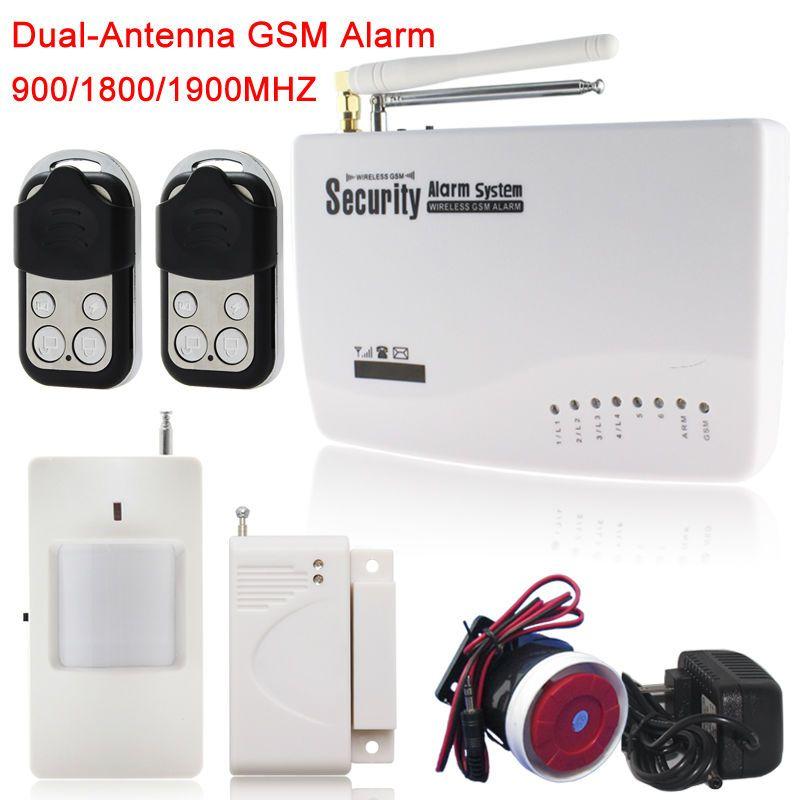 2016 Gsm Alarm Host U0026 Wireless Wired Gsm Home Security Burglar Alarm System  +1*infrared Sensor+1*door/Window Sensor+2*remote Control Best Alarm System  Best ...