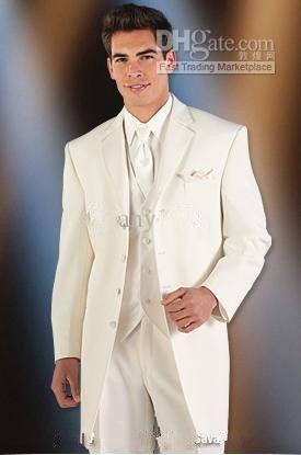 Venta caliente Boda Novio / Padrino de boda Trajes de hombre Novios Tuxedos chaqueta + pantalones + corbata + chaleco