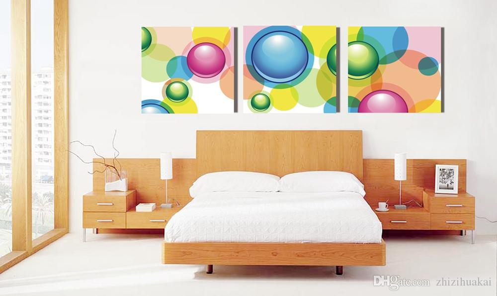 Home decoration unframed art picture Canvas Prints tulips Daisy orchid mountain tree flower house Abstract painting