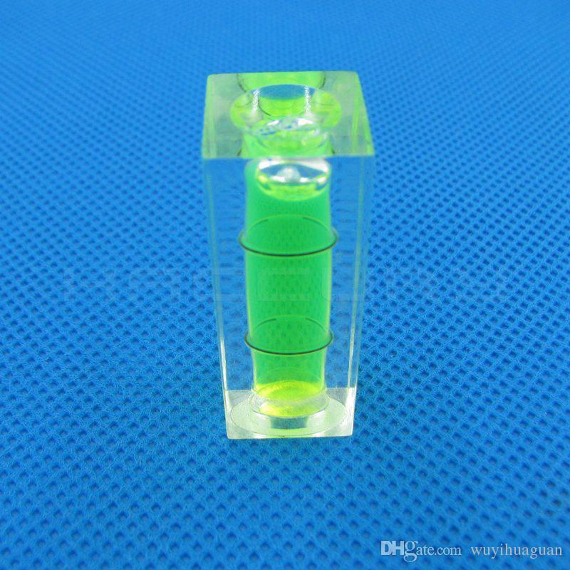 50 peças / lote 15 * 15 * 40mm Nível Quadrado Nível de bolha nível de bolha Verde Azul Vermelho cor