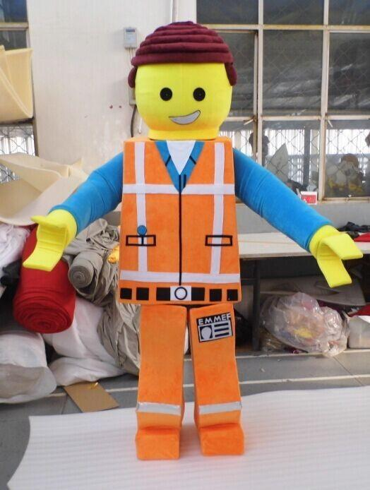 2016 High Quality Lego Boy Mascot Costume Lego Blocks Fancy Dress Clothing Emmet Fancy Dress Super Man Lego Emmet Mascot Costume French Maid Costume Peter ... & 2016 High Quality Lego Boy Mascot Costume Lego Blocks Fancy Dress ...