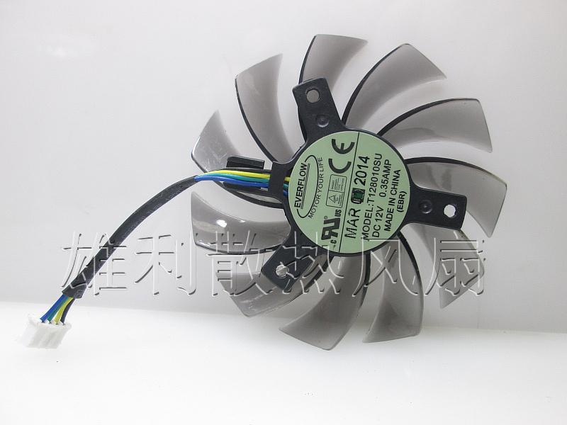 Ventoinha de placa gráfica original para Gigabyte GTX760 GTX680 GTX770 T128010SU 12V 0.35A