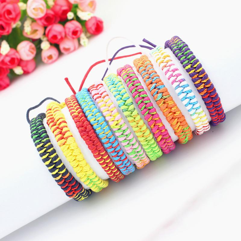 10 Colors Bohemian Brand Bangle Weave Cotton Friendship Bracelet Woven Rope String Friendship Bracelets For Best Friends