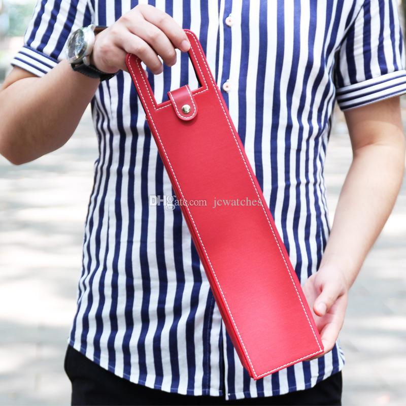 Роскошные Портативные ПУ Кожаные Винные Мешки Бутылка Красного Вина Упаковка Чехол Подарочные Коробки Для Хранения С Ручкой Бар Аксессуары