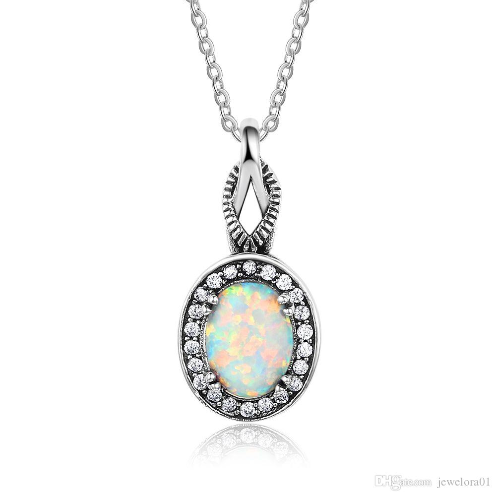 birthstone jewelry guardian geode lucky gemstone opal stone charm pendant hwstar agate opnw angle october necklace products white