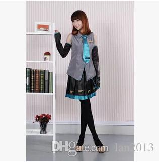 Ücretsiz kargo! Vocaloid Hatsune Miku Kadınlar Cosplay Kostüm Anime Elbise